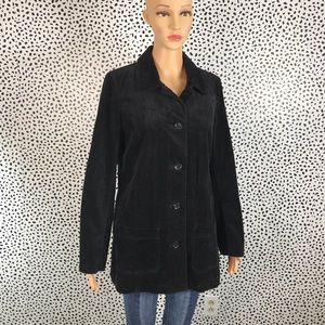 J. Jill black corduroy coat NWT size Xs